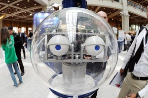 The robot SCITOS G5 of MetraLabs is presented at the International Conference on Robotics and Automation (ICRA) at the congress center in Karlsruhe, Germany. Photo / AP