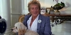 Watch: Rod Stewart overcomes writer's block