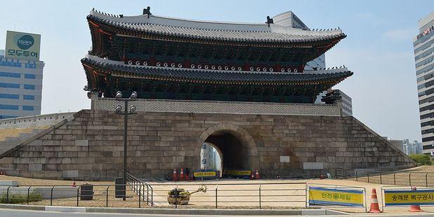 The restored Namdaemun gate. Photo / Mark Froelich