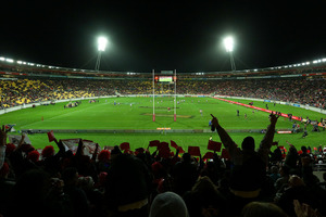 A general view as the Warriors take the field during the round nine NRL match between the New Zealand Warriors and the Canterbury Bulldogs. Photo / Getty Images.