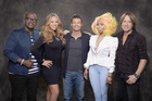 Randy Jackson, Mariah Carey, Ryan Seacreast, Nicki Minaj and Keith Urban. Photo/supplied