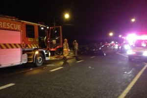 The scene of the crash. Photo / Palmerston North Rescue Helicopter