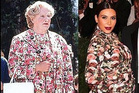 Robin Williams in Mrs Doubtfire and Kim Kardashian at the Met gala benefit.