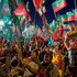 Supporters of Pakistan Tehreek-e-Insaf or Moment for Justice party attend an election campaign rally in Islamabad, Pakistan. Photo / AP