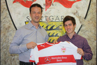 All White Marco Rojas after signing with German club VfB Stuttgart. Photo /Twitpic - VfB