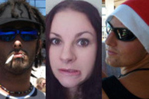 The three victims of the crash - from left - driver Dylan Kingi, Holly Kay Gunn and Peter Bunyan. Photos / Facebook