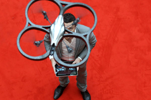 The AR Drone made by Parrot, controlled by iPad. Photo / Getty Images