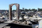 Burnt out remains on David and Deanea Heartley's property near Prebbleton, Christchurch. Photo / Martin Hunter