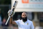 Hashim Amla celebrates his 19th Test century. Photo / Getty Images