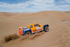 Robby Gordon and co-driver Kellon Walch of the U.S. compete in the 6th stage of the 2013 Dakar Rally from Arica to Calama, Chile, Thursday, Jan. 10, 2013.
