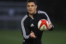 Dan Carter, on holiday in Taupo, created a stir on Twitter today when asking his 130,000 followers if anyone would be keen to return his kicks for him. Photo / Getty Images. 