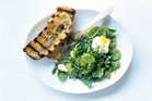 Crushed broad bean, feta and mint dip. Photo / Chris Court