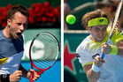 Ferrer (right) of Spain is chasing his 4th Heineken Open title and Kohlschreiber from Germany has played rock solid all week. Photos / Dean Purcell, Brett Phibbs 