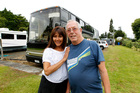 Georgia and Clive Tomkins are selling their luxury motorhome after seven happy years. Photo / Michael Craig