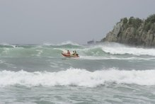 Lifeguards busy at Mount Beach. Photo / APN