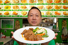 Chef Freddy Iskandar from Kuta Bali at the Ponsonby International Food Court with their Rendang Indonesia. Photo / Richard Robinson
