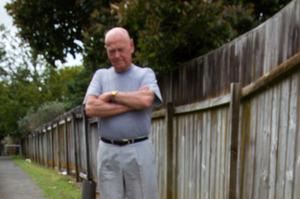 Waihi homeowner Roger Wainhouse. Photo / Alan Gibson