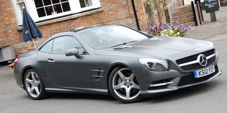 I'll take two: Heaps of boot space, comfort and slinky Mercedes SL500 style. Photo / Jacqui Madelin