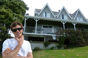 Jack Tame at his childhood home in Christchurch. Photo / Supplied