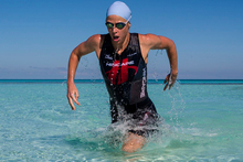 Corporate go-getter cum professional triathlete Anna Cleaver, 31, is on target for Auckland after a close brush with death. Photo / Supplied