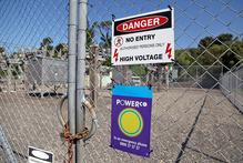 Thieves stole valuable copper from the Powerco Waihi Rd substation. Photo / Andrew Warner