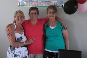 Sisters Ingrid Rowe, Eve Richardson and Jackie Barr, together on Christmas Day after half a century. Photo / APN