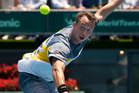 Philipp Kohlschreiber beat Xavier Malisse in the quarter-finals. Photo / Greg Bowker