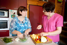 Maureen Christian (right) seeks out quality ingredients to cook her meals from scratch. Picture / Natalie Slade