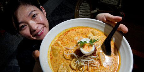 To get an authentic flavour, top your laksa dish with shredded Vietnamese mint or coriander leaves, says Charlotte Ng, head chef of Mamak Malaysian Cafe. Photo / Sarah Ivey