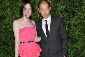 Designer Jason Wu with actress Dakota Fanning.Photo / AP