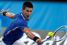 Novak Djokovic loves playing at the Australian Open in Melbourne. Photo / AP