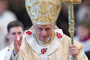 Pope Benedict XVI is one of many well-known personalities that Debenedetti has 'killed off' on Twitter. Photo / AP