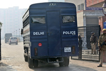 Four of five men charged with the murder and gang-rape of the 23-year-old were brought before a court in New Delhi on Sunday. Photo / AP