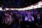 Attendees gather at the International Consumer Electronics Show in Las Vegas. Photo / AP