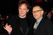Director and writer Quentin Tarantino, left, and Christoph Waltz arrive for the UK Premiere of Django Unchained. Photo / AP