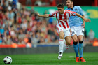 Michael Owen is reportedly keen to move from Stoke City where he has struggled to get regular game time. Photo / AP