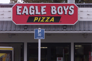 The man attempted to rob an Eagle Boys pizza store only minutes after robbing a Dominos store. File Photo / NZ Herald