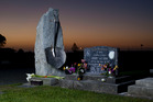 The Strongman Mine disaster memorial in the Karoro cemetery in Greymouth. Photo / Simon Baker