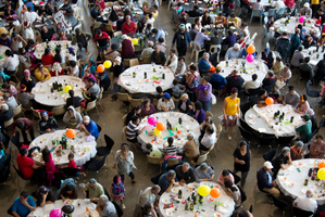 The Auckland City Mission lunch is the end product of much work by happy volunteers. Photo / Richard Robinson
