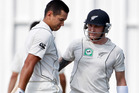 Ross Taylor (L) and Brendon McCullum. Photo / Christine Cornege