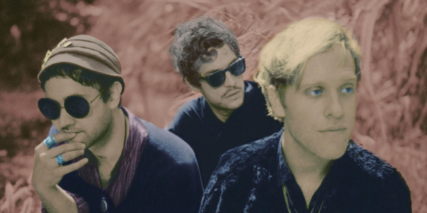 Ruban Nielson (left), Greg Rogove and Jake Portrait of Unknown Mortal Orchestra. Photo / Supplied