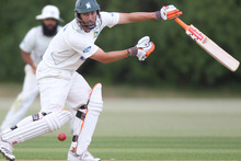 Auckland were unable to break the 100-run third wicket partnership of Matthew Sinclair (pictured) (71 from 52) and Ben Smith (59 from 31). Photo / Paul Estcourt.