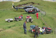 The scene of the crash near Te Haroto today. Photo / supplied