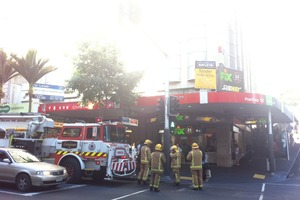 Fire crews outside the building in central Auckland. Photo / Supplied