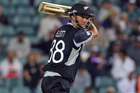 Grant Elliott leading New Zealand to victory at the 2009 ICC Champions Trophy against Pakistan. Photo / Getty Images