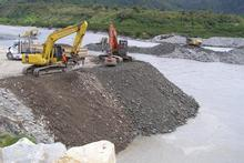 Bridge repair at Harihari. Photo / NZ Transport Agency
