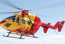 The Nelson Marlborough Rescue Helicopter was called in to help the man. Photo / supplied
