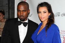 Kanye West and Kim Kardashian. Photo/AP