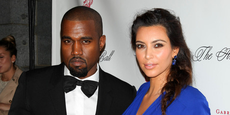 Kanye West and Kim Kardashian. Photo/AP