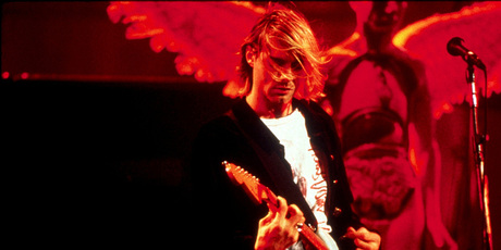 Kurt Cobain on stage. Photo/supplied